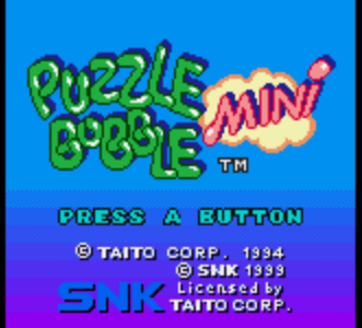 Puzzle Bobble Mini – Neo Geo Pocket Color