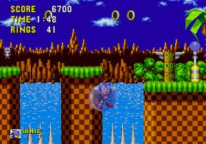 Sonic dies on spikes