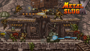 Chaos! Brought to you by Metal Slug X.