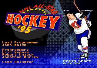 NHL All-Star Hockey '95 – Sega Genesis