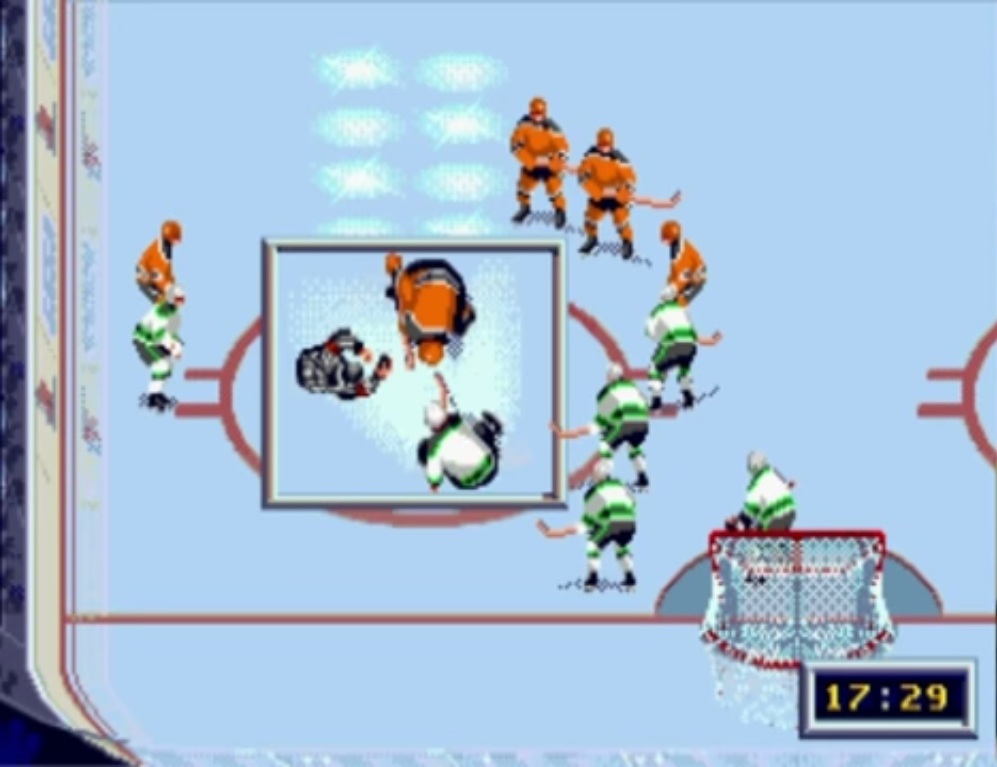 In this zoomed box, you can clearly see your player's stick and movements.