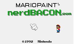 Nerd Bacon Art Lessons with Mario Paint (VIDEO)