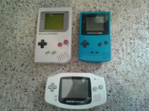 The Game Boy family,from the original Game Boy to the Game Boy Advance.