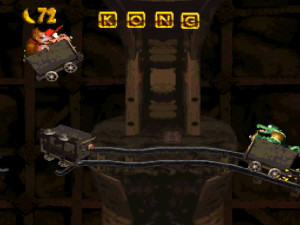 donkey kong country mine cart
