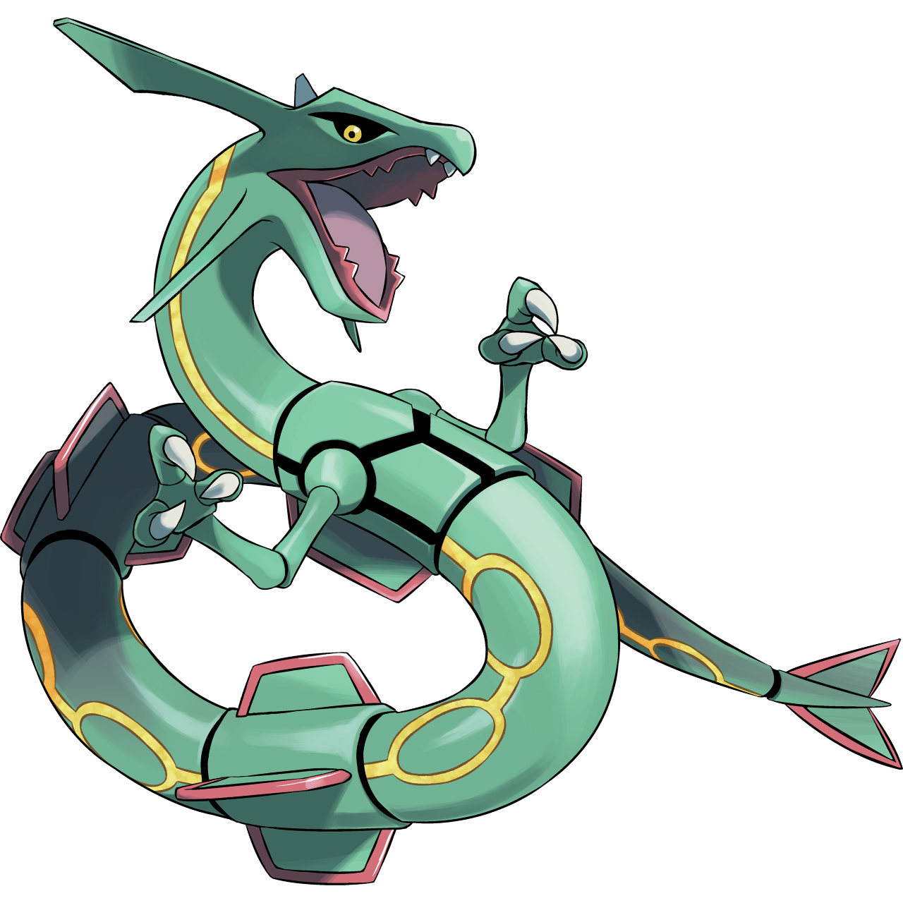 I dare you to take one look at this Rayquaza and tell me you don't want this badass on your team.