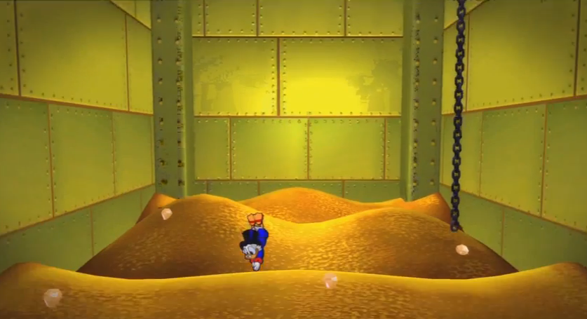 Diving into the pile of gold coins in Scrooge's money bin has always been a dream!