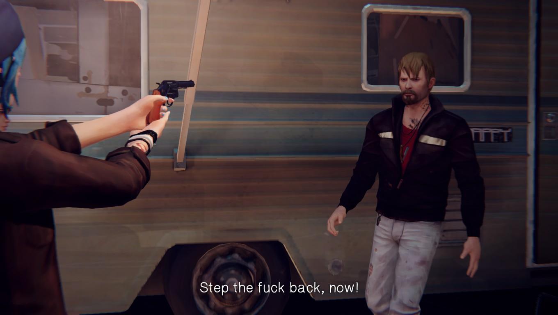 pulling a gun on frank