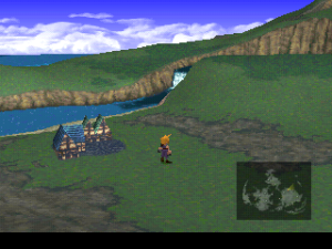 final fantasy vii world map screen