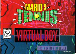Virtual Boy Mario's Tennis Front Cover