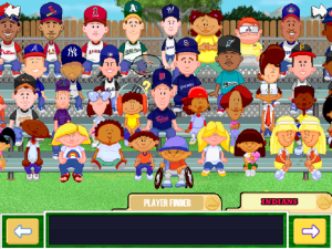 The big character selection screen.