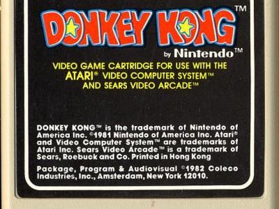 Donkey Kong – Atari 2600