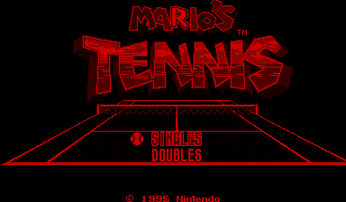 Mario's Tennis – Virtual Boy