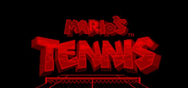 Mario's Tennis – Virtual Boy