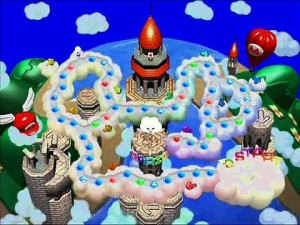 """Mario's Rainbow Castle. One of the """"harder"""" maps."""