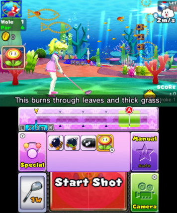 Quick Play let's you use items on the golf course, which can be quite useful.