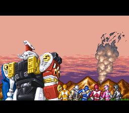 mighty morphin power rangers: the movie snes ending