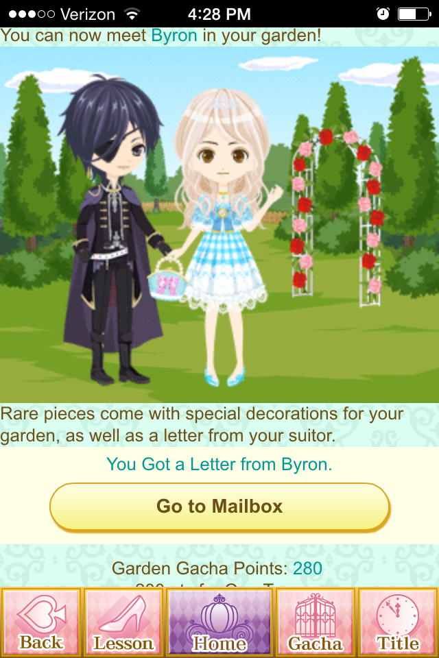 "The ""Garden Gacha"" feature is pretty, but pointless."