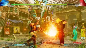 The graphics and colors pop in Street Fighter V