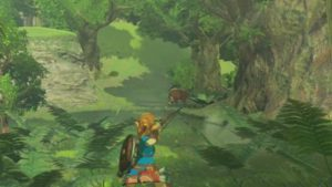 Hunting plays a part in providing Link with food he needs to survive. Ah, the cycle of life!