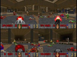 Doom II multiplayer kicks more ass than the original. Co-Op with your enemies and deathmatch your friends! ...Wait.