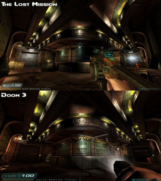 A graphical comparison; Original on the bottom, remastered on the top. Also note that only the original screenshot lets you use the flashlight in your hand.