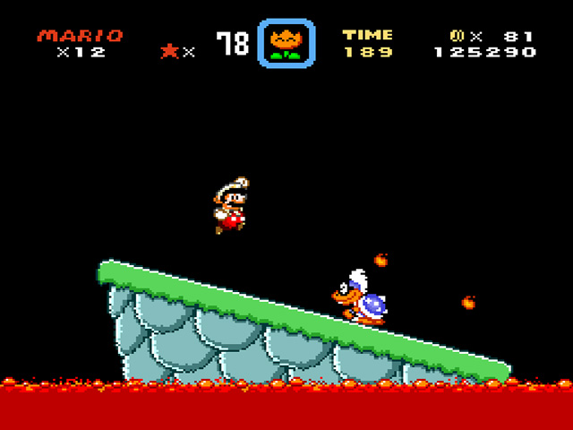 super mario world boss fight