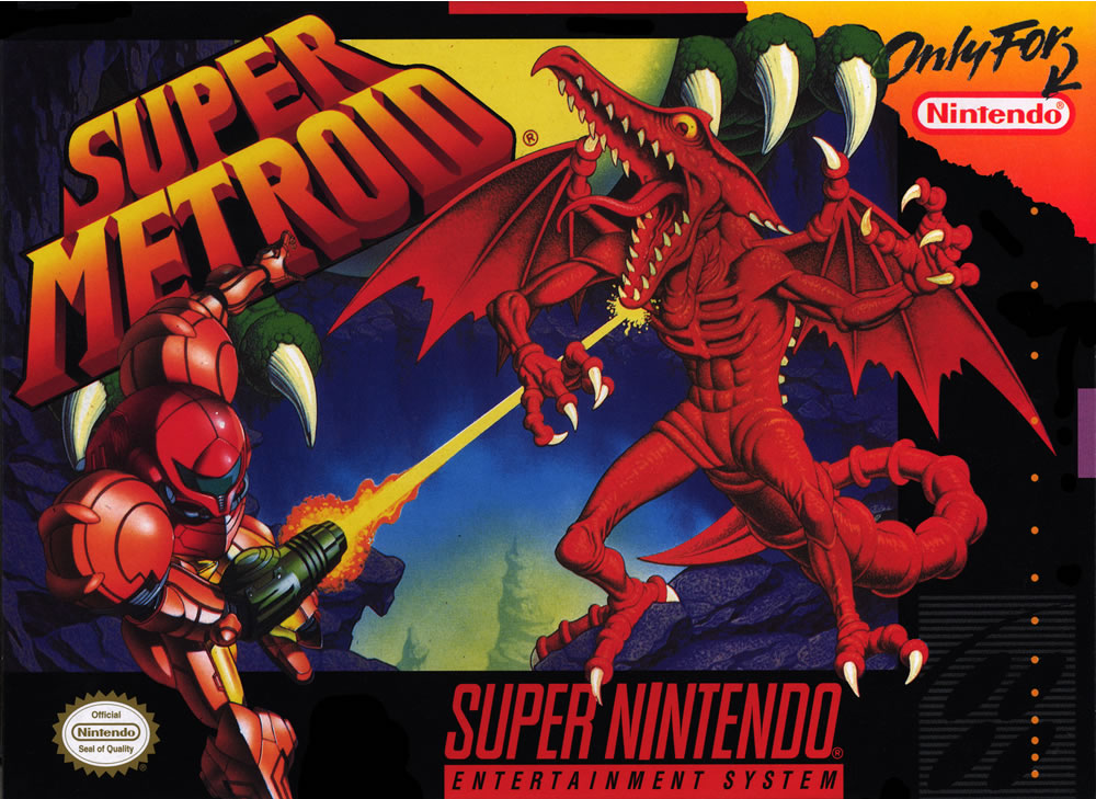 super metroid box art