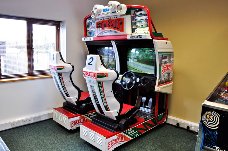 sega rally 2 arcade cabinet