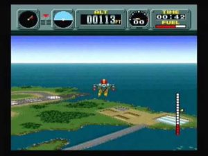 Wind direction is one of the major factors you'll have to consider in Pilotwings.