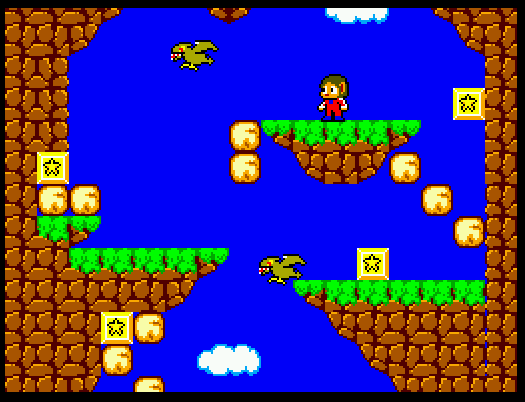 Alex Kidd in Miracle World on the Master System