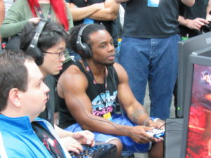 Woods and Knee duke it out in Tekken 7 at EVO 2017.