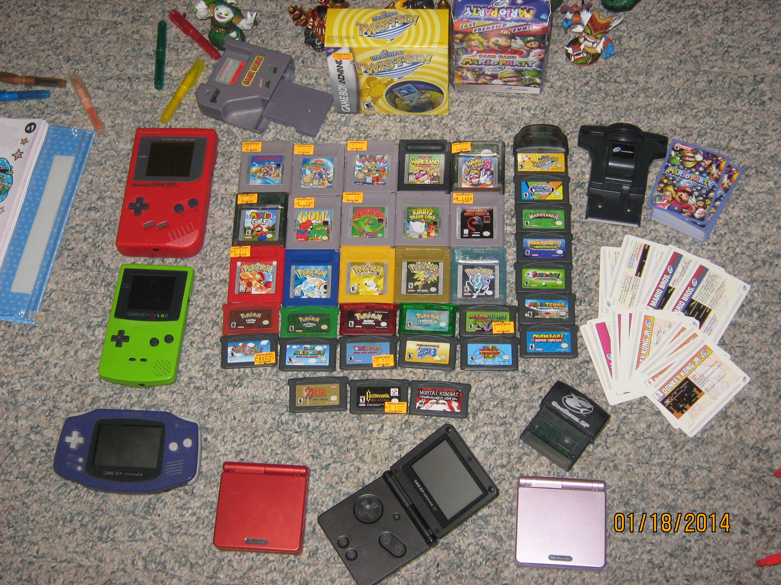 Game Boy, Game Boy Color, and GBA Stuff.JPG