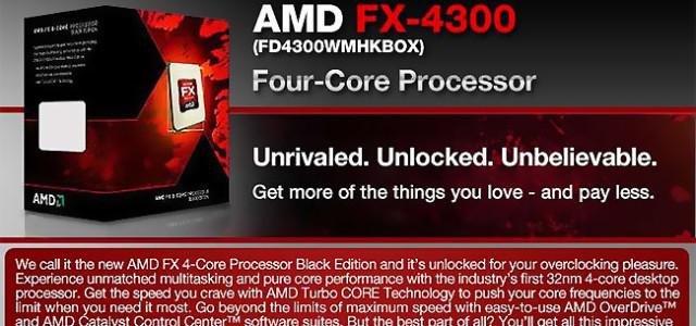Amd Fx 4300 Vishera Quad Core Processor Model Fd4300wmhkbox Pc Nerd Bacon Reviews