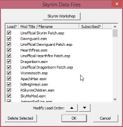 Skyrim Recommended Mod Load Order