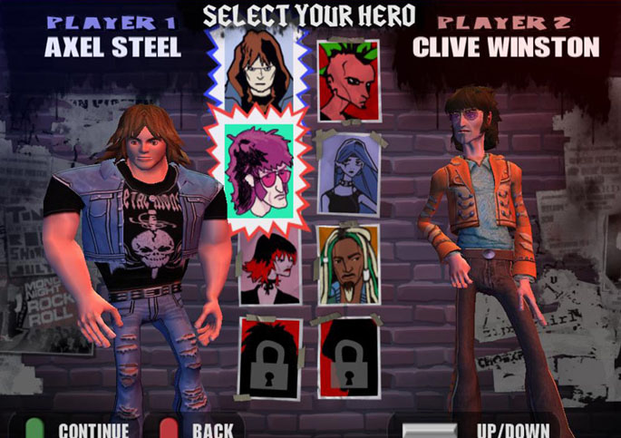Guitar Hero 2 Characters